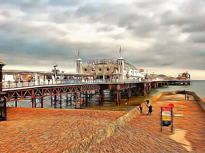 Photograph - Breezy Evening At Brighton Pier by Dorothy Berry-Lound