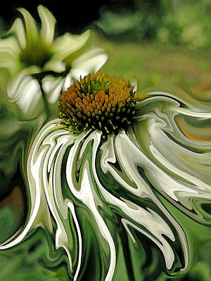Abstracted Coneflowers Painting - Breezy Feeling by Suzy Freeborg