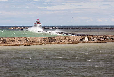 Art Print featuring the photograph Breitbeck Park, Overlooking Oswego Harbor by Chris Babcock