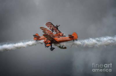 Breitling Stearman Wingwalkers Cross Over Art Print