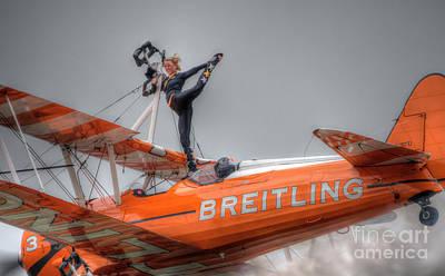Breitling Stearman Wingwalkers Dismount  Art Print