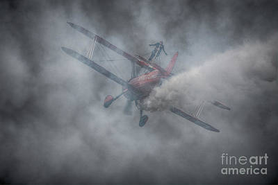 Breitling Stearman Wingwalkers Smoke Art Print