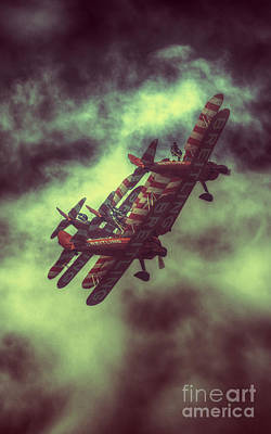 Breitling Wing Walkers Tangle Art Print
