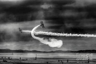 Photograph - Breitling Wingwalker Biplane by Adrian Evans