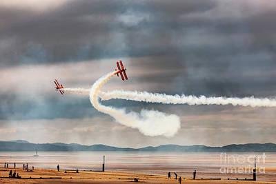 Photograph - Breitling Wingwalker Biplanes by Adrian Evans