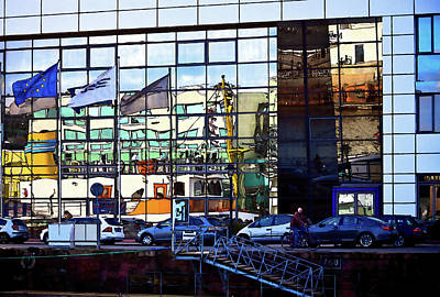 Photograph - Bremerhaven Harbor Reflections by Tatiana Travelways