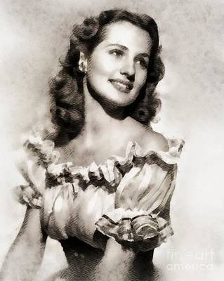 Brenda Painting - Brenda Marshall, Vintage Actress by John Springfield