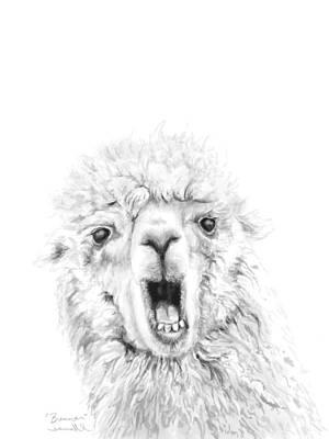 Animals Drawings - Brennan by K Llamas