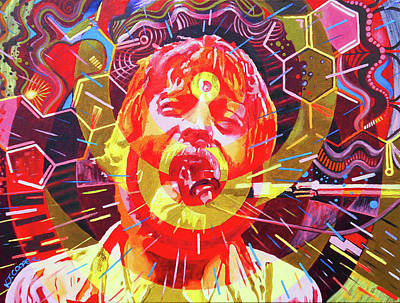 Painting - Brent Mydland 2 by Kevin J Cooper Artwork