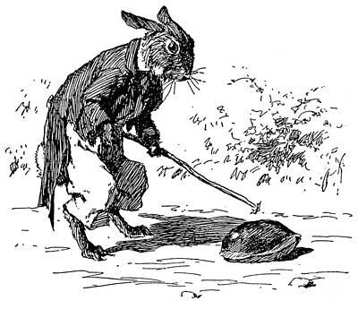 Drawing - Brer Rabbit, 1895 by Granger