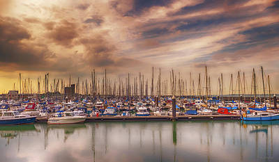 Sailboat Photograph - Breskens Marina by Wim Lanclus