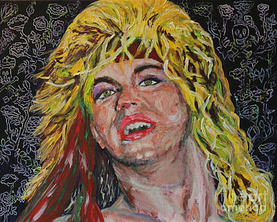 Heavy Metal Painting - Bret Michaels 80s Hair Bands Poison by Robert Yaeger