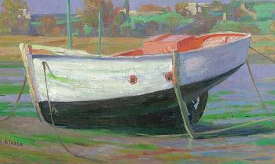 Painting - Breton Fisherboat At Paimpol  Bretagne   by Ben Rikken