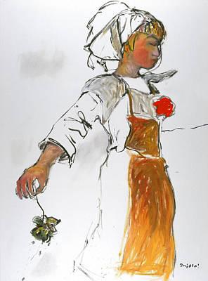 Breton Girl Art Print