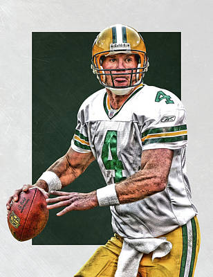 Brett Favre Green Bay Packers Art Art Print