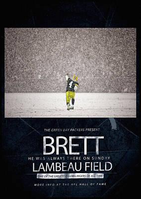 Nfl Legends Painting - Brett Favre Underground Poster by Big 88 Artworks