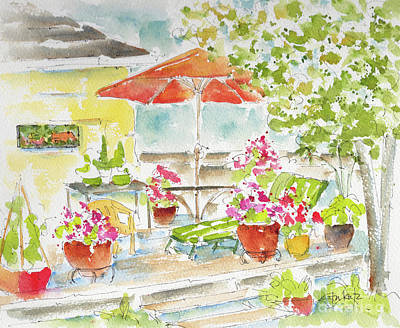 Painting - Brett's Backyard by Pat Katz