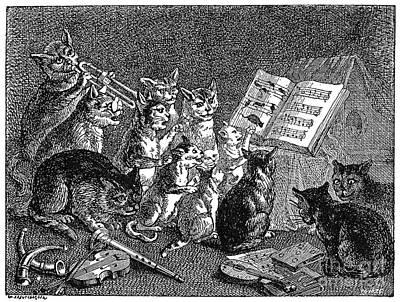 Photograph - Breughel: Concert Of Cats by Granger