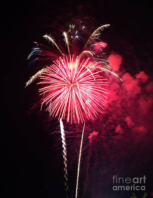 Photograph - Brevard Fireworks 6 by Kevin McCarthy