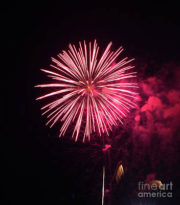 Photograph - Brevard Fireworks 8 by Kevin McCarthy
