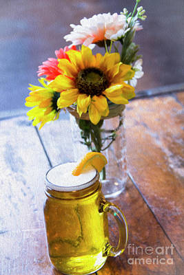 Flower Pint Photograph - Brew And Blooms by Amy Sorvillo