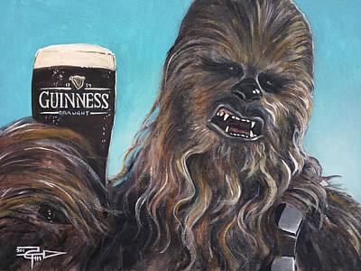 Painting - Brewbacca by Tom Carlton