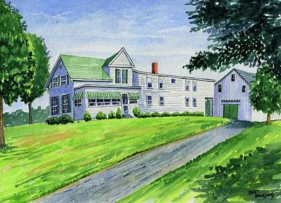 Brewer Family Farm, Augusta Maine Art Print by Jeff Blazejovsky