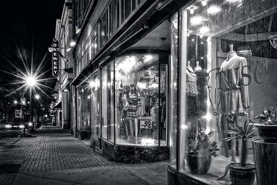 Black And White Photograph - Brewery And Boutique In Black And White by Greg Mimbs