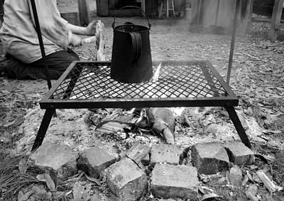 Photograph - Brewing Outdoors Bw by David Lee Thompson