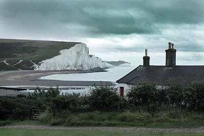 Down East Photograph - brewing storm Seven Sisters - England by Joana Kruse