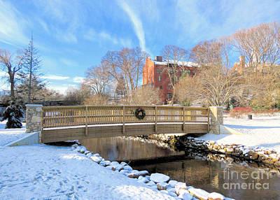 Photograph - Brewster Gardens Footbridge  by Janice Drew