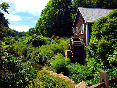 Photograph - Brewster Gristmill by Bruce Gannon