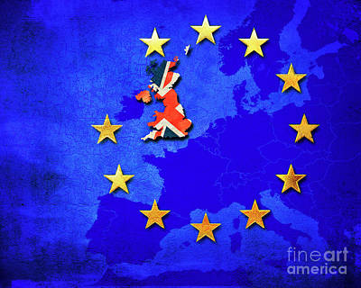 Separation Digital Art - Brexit by Edmund Nagele