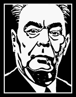 Soviet Union Mixed Media - Brezhnev 2  by Otis Porritt