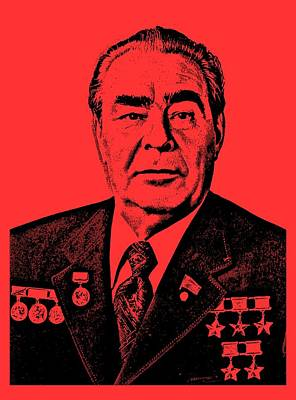 Soviet Union Mixed Media - Brezhnev 3a by Otis Porritt