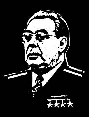 Soviet Union Mixed Media - Brezhnev by Otis Porritt