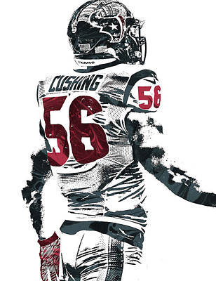 Mixed Media - Brian Cushing Houston Texans Pixel Art 2 by Joe Hamilton