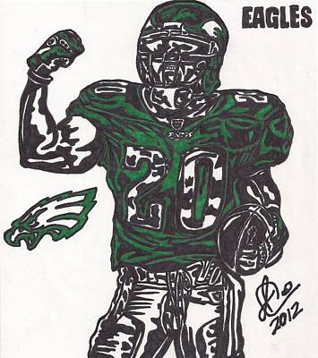 Philadelphia Eagles Drawings Drawing - Brian Dawkins 2 by Jeremiah Colley