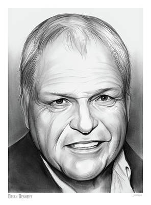 Drawing - Brian Dennehy  by Greg Joens