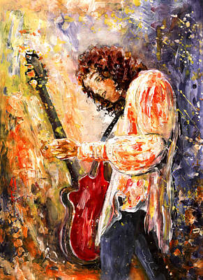 Painting - Brian May by Miki De Goodaboom