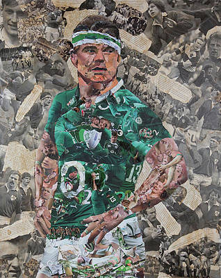 Brian O'driscoll Collage Print by John Kerr