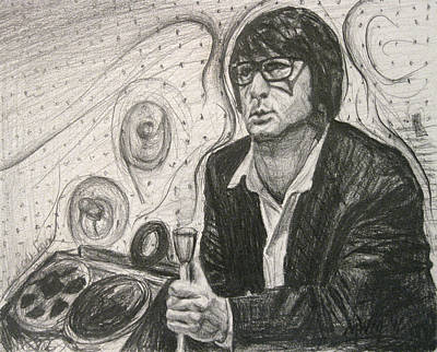 60s Drawing - Brian Wilson 1 by Michael Morgan