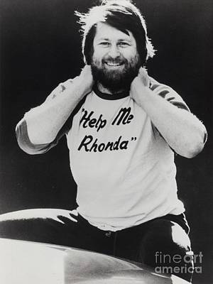 Jardine Photograph - Brian Wilson Of The Beach Boys Promotional Photo - 1976 by The Titanic Project