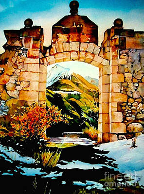 Tete Painting - Briancon - Fort Des Tetes by Francoise Chauray