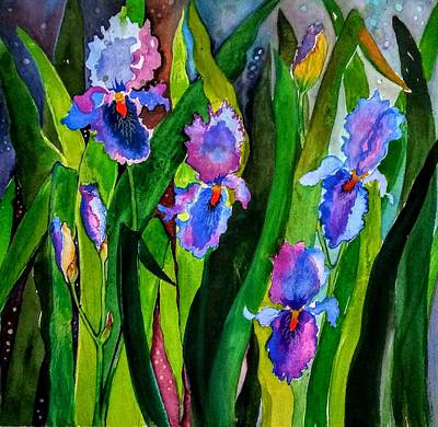 Painting - Brians Iris by Esther Woods