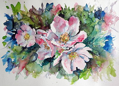 Wild Rose Painting - Briar by Kovacs Anna Brigitta