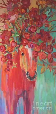 Equine Artwork Painting - Briar Rose by Kimberly Santini