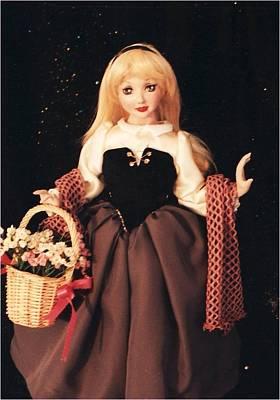 Doll Sculpture - Briar Rose by Rosemary Babikan