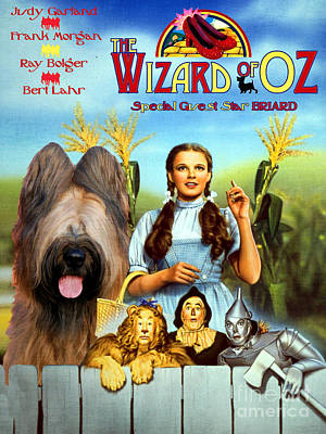 Painting - Briard Art Canvas Print - The Wizard Of Oz Movie Poster by Sandra Sij