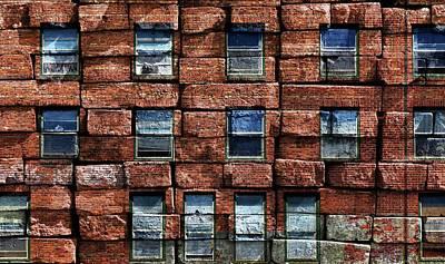 Photograph - Brick-a-brick by Rick Lawler